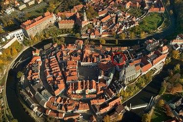 aerial view cesky krumlov