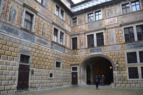Painted courtyard.castle